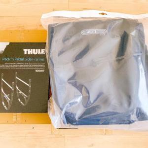 thuleのサイドフレームとオルトリーブのパニアバッグが届きました
