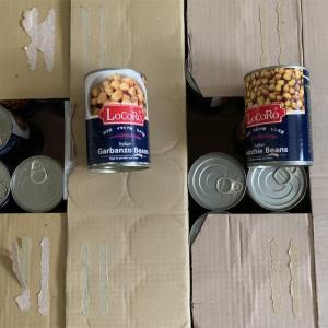 箱買いしたレンズ豆とヒヨコ豆の缶詰が届きました