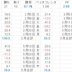 2019年300万円ハイレバチャレンジ1月から5月まで分析