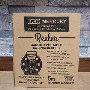 「MERCURY(マーキュリー)」 巻き取り式電源延長コード
