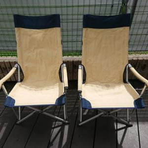 キャンプチェアーの座面シートを交換