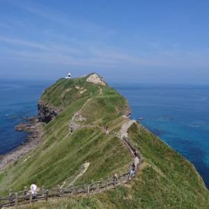 積丹ブルーの海が見れる神威岬。子連れは親の体力勝負。