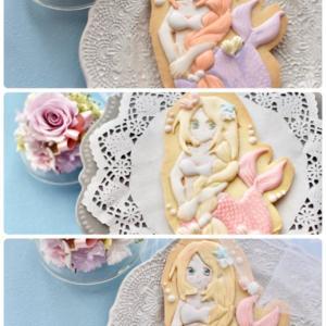 【レポ】人魚姫の立体アイシングペインティングクッキーレッスン♪