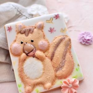ほっぺたぷくぷく!心ときめくリスさんのアイシングクッキー