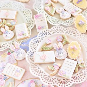ラブリーな刺繍風アイシングクッキーを大量生産!