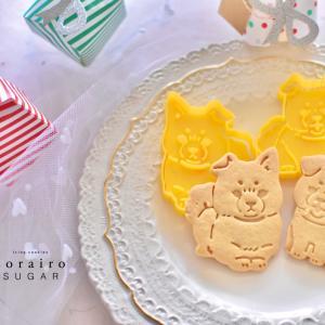 可愛い!柴犬スタンプクッキーのサンプル作成