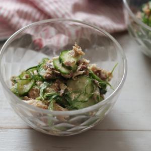 【レシピ】3分で1品♪きゅうりと鯖缶のさっぱりサラダ