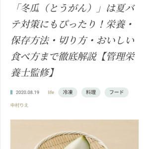 【kurfura】夏バテ予防にピッタリ?!冬瓜のヒミツ