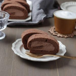 フワフワ!初めてでもできるチョコロールケーキ(米粉レシピ)