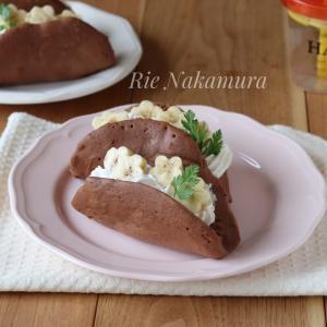 【東洋ライスさま】失敗しないバレンタインレシピ「チョコバナナオムレット」