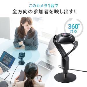みんなの顔が見渡せる!360°WEB会議カメラ