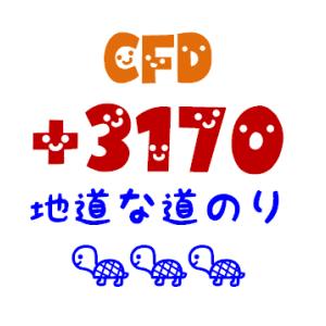 CFD利益確定 3,170円