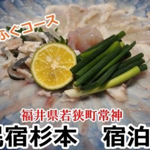 【宿泊記】常神半島にある民宿杉本で若狭ふぐのフルコースを食べた(福井県若狭町)