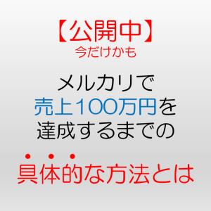 僕がメルカリで100万円売上げた具体的な方法をお伝えします。