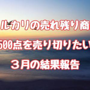 メルカリの売れ残り商品500点を売りきりたい(2020年3月結果報告)