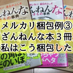 メルカリ梱包例③(ざんねんな本3冊)私はこう梱包した