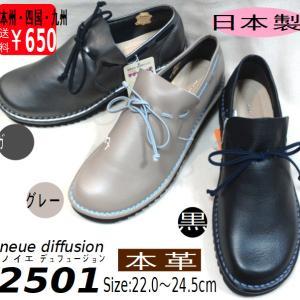 履き心地抜群!とても柔らかい本革婦人靴 ノイエディフュージョン2501