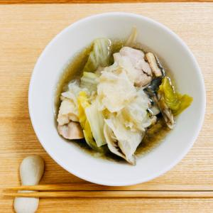 ホットクックで鶏肉と白菜、白キクラゲと舞茸のスープ【貧血女子に捧げるレシピ】