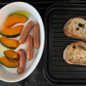 ヘルシオで朝食 モーニングセットが便利!パンとおかずを同時に調理