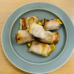 ヘルシオで野菜の豚肉巻き【かぼちゃ・ズッキーニ・エリンギ】ダイエットにもおすすめのボリューム満点レシピ