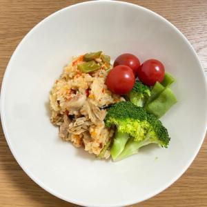 【炊飯器で作るジャンピラフ】野菜たっぷりで痩せる?ボディメイク?作ってみた!レシピあります