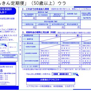 ねんきん定期便相談(50歳以上) 昭和61年4月以降第3号被保険者