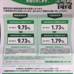 協会けんぽ保険料率改定 令和2年3月分~
