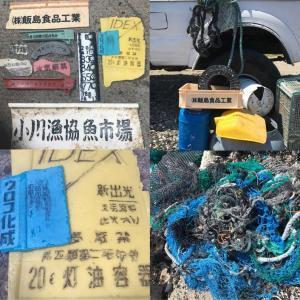 ハワイ島カミロポイントで日本から流れ着くゴミの清掃活動
