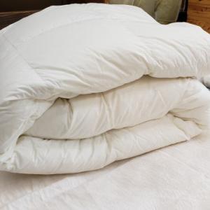 羽毛肌掛けふとんを使うなら側生地は綿100%に限ります!