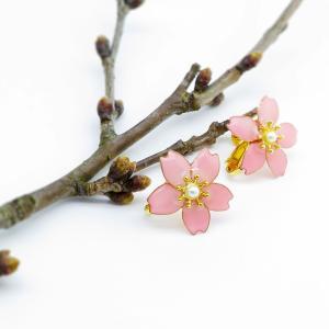 春限定 一輪桜のイヤリング