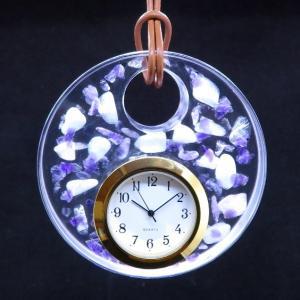 天然石をちりばめた掛け時計【全国各地で桜の開花宣言】