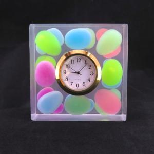 【定番商品】カラフルビーンズの置き時計【平成最後の満月はピンクムーン】