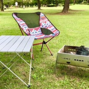 格安アルミロールテーブル&ヘリノックス風チェアのレビュー「本物より座り心地が良い??」