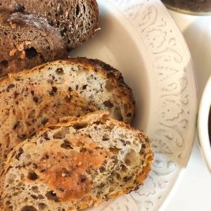 明太子バター&パンの朝ごはん