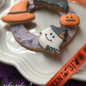 アイシングクッキー講師作品 ~ハロウィンに向けてサンプル試作中✽リースにして♡~