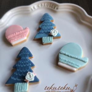 アイシングクッキー講師作品 ~繋いでくださったご縁を大切にご挨拶はクリスマス~