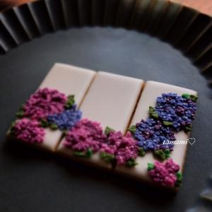 【アイシングクッキー講師作品】 ~もうひとつの紫陽花✽沢山のお声をいただき感謝♡~