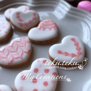 【アイシングクッキー講師作品】 ~小さなクッキーに思いを込めて①✽ありがとうございます♡~