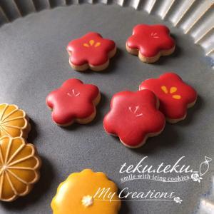 【アイシングクッキーtamami♡作品】 ~目を奪われる鮮やかアイシング♡時にはこんなお色を~