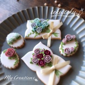 【お花絞り①レッスン】 ~バラのお花を沢山絞ります♡~