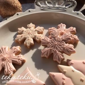 【アイシングクッキーtamami♡作品】 ~アイシングクッキー温かく優しい色で大人クリスマス♡~