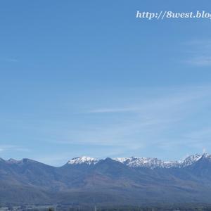 八ヶ岳も初冠雪