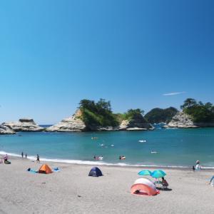 つば沢海岸 乗浜海岸 大浜海水浴場 (西伊豆の海水浴9)