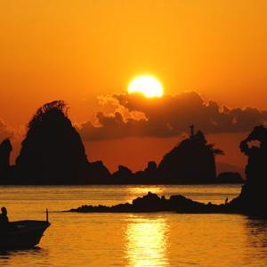 西伊豆 大田子海岸の夕陽がそろそろ見頃を迎えます