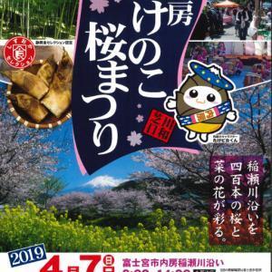 7日に富士宮で芝川日和 内房たけのこ・桜まつりが開催されます