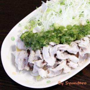 麺つゆとおろし胡瓜でいただく『豚の冷しゃぶ』~ヤマキの麺つゆ使用~【減塩タイプ・麺つゆで簡単】