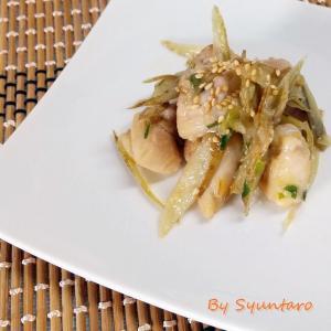 【作り置き・レンチン】作り置きねぎ味噌で作る『鶏ごぼう~ねぎ味噌味~』
