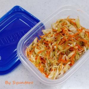 【ヘルシー・作り置き】家にある材料で簡単に作る『和風コールスローサラダ』