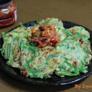 おつまみにも丁度いい『納豆ニラチヂミ』~納豆追加で栄養価もアップ~