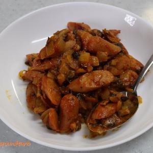 お弁当のおかずに『スパイシーソーセージ炒め』~GABANのスパイスとケチャップにとんかつソースが決めてのカレー風味~